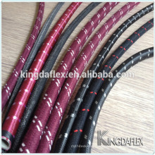 DN 3mm Cotton Outer Braided Cover Fuel Oil Rubber Hose 10bar