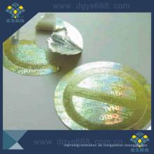 Prägender Druck-Silber-Laser-Aufkleber