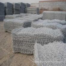 Galvanized Hexagonal Gabion Basket / Gabion Stone Wall