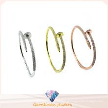 2016 simples estilo atacado jóias 925 pulseira de prata (g41283)