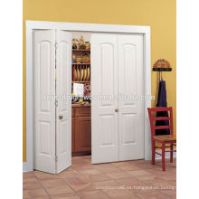 Acabado puertas Bifold armario Interior pintado blanco