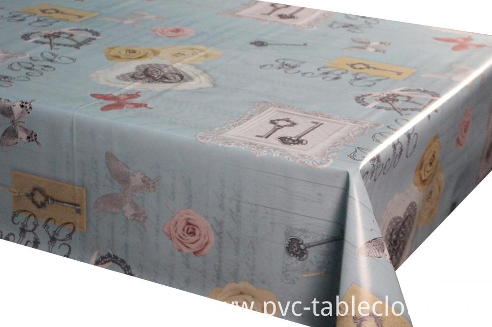 PVC printed tablecloth with tnt backing