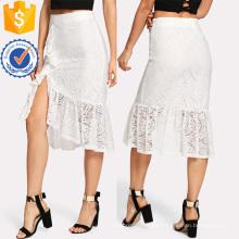 Rüschensaum Asymmetrische Spitze Rock Herstellung Großhandel Mode Frauen Bekleidung (TA3094S)