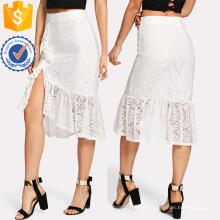 Falda de encaje asimétrico de la falda del cordón de la fabricación al por mayor de las mujeres de la manera de la ropa (TA3094S)