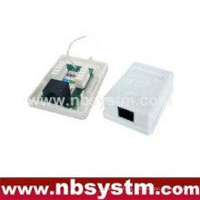 1 port Surface Box UTP Cat5e RJ45 PCB jack