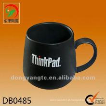 Novo produto 475cc ThinkPad copos de café de cerâmica preta