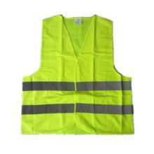 hi-vis solid knitted sleeveless summer safety vests reflective