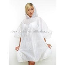 PE disposable poncho raincoat(BT-0009)