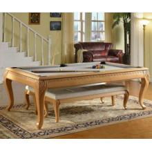 Haus verwenden klappbare Billardtisch 7ft / 8ft / 9ft schwarz 8 Carving Pool Tisch für Esszimmer