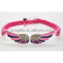 Double alliage d'alliage avec bracelet tissé diamant