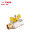 Válvula de gas de forja de latón de alta calidad FxM
