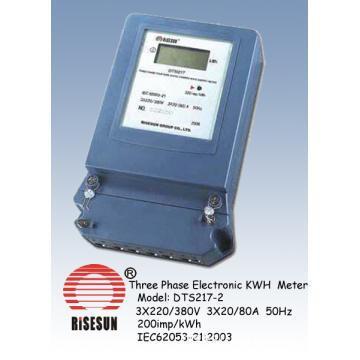Three Phase Electronic KWH Meter