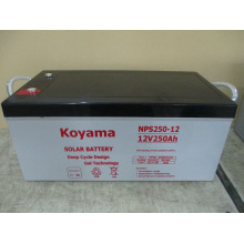 250ah 12V Solar Power Battery Deep Cycle Gel Battery