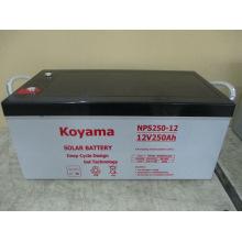 Bateria profunda do gel do ciclo da bateria das energias solares de 250ah 12V