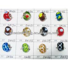Atacado Charm Mixed Cor Lampwork Beads De Vidro Em Bluk LS-139