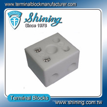 TC-652-A 16mm 5 Hole Brass Electric 600V 65A Porcelain Terminal Block