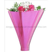 Manga de flores de plástico / manga de plástico colorido de la flor