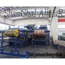 Máquina formadora de rollos de espuma lana de roca mineral y panel de emparedado del eps