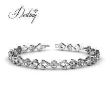 Fashion Victorian Bracelet Heart Tennis Bracelet for Women Luxury Wholesale Made with Delicate Crystals