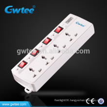 Residential portable universal electric switch socket power strip
