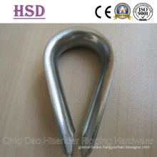 DIN6899b Thimble, E. Galvanized, European Thimble, Commercial Type Thimble