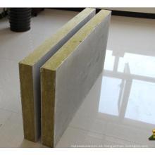 Panel sándwich de acero de buena lana de roca con clasificación contra incendios
