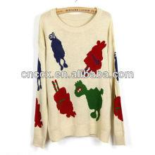 13STC5355 pulôver crewneck suéteres de natal das senhoras