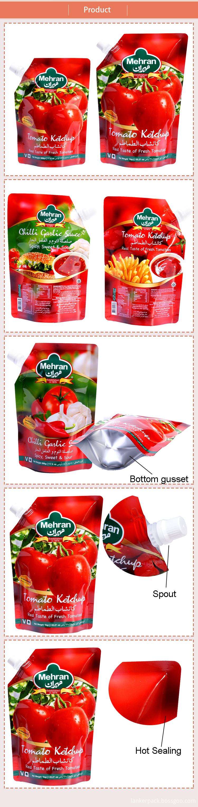 Ketchup spout pouch