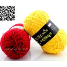 Hilado de tejer a mano de ganchillo fábrica de hilados de algodón de algodón de lujo profesional