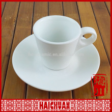 240ml 8oz plain ivory white fine bone china coffee and tea cup and saucers sets