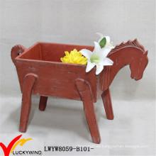 Jardinero decorativo en forma de caballo con gusto de Navidad