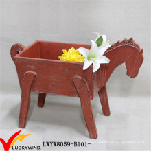 Decorative Garden Planter in Horse Shape with Christmas Taste
