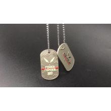 ShuangHua fournir étiquette de chien en métal américain personnalisé avec chaîne