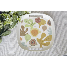 Hot-Sell Eco Bamboo Fiber Tray with Print (BC-TP1012)