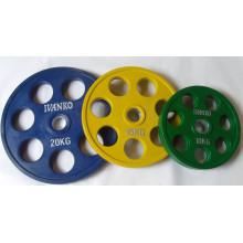 Equipamentos de Fitness de livres do peso de haltere com placa de peso GV (usnv81827)