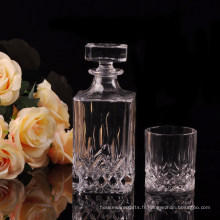 Bouteilles de verre à whisky populaires avec tasse