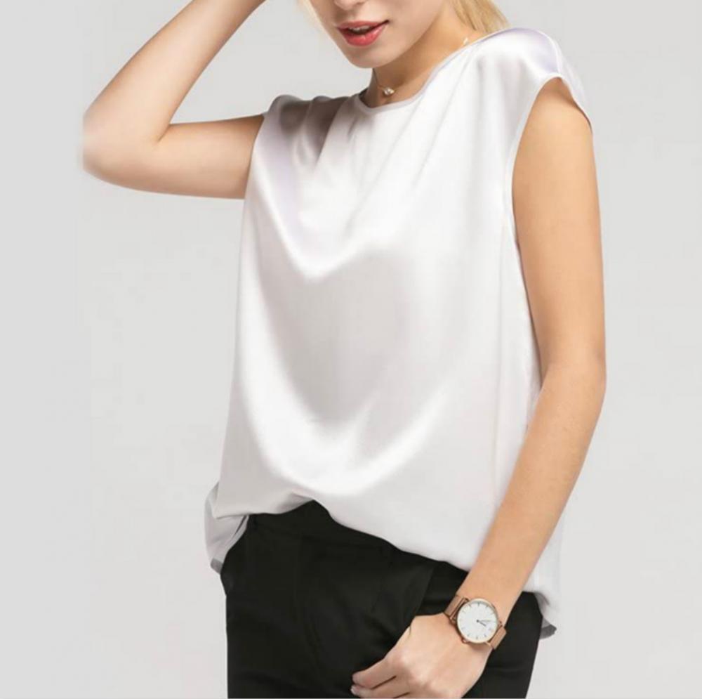 White Silk Tops