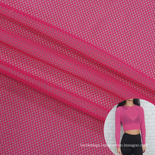 wholesale stretchy polyamide 90 elastane 10 tricot knit breathable mesh fabric sports