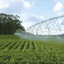 Irrigation à pivot central en acier galvanisé par roue
