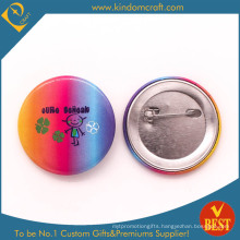 Personal Tailor Tin Button Badge with Iridescence and Cute Logo