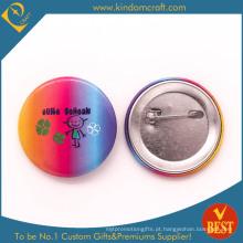 Crachá pessoal do botão da lata do alfaiate com iridescência e logotipo bonito