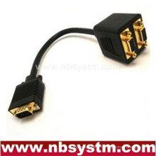 2 moniteur sur 1 pc VGA Y Splitter Câble moulé