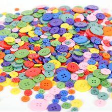Botón de resina de 4 agujeros, logotipo y colores personalizados