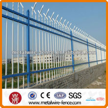 Wrought iron security fence tube fencing
