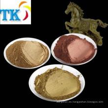 Polvo de pigmento metálico / polvo de bronce, cobre, pigmento de oro.