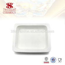Wholesale ceramic white dinner buffet plate serving square dishes
