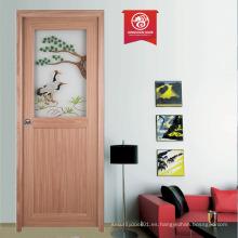 Diseño moderno de la puerta para las casas / puerta compuesta del plástico de madera