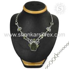 Rare art jewelry 925 sterling multi gemstone silver jewelry indian wholesaler