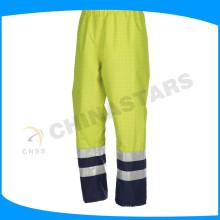 2015 pantalones antiestáticos de alta visibilidad pantalones cinta reflectante de ropa de trabajo