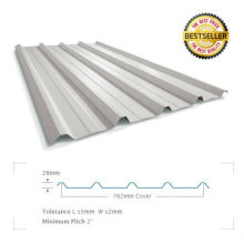 insulated water carrying galvanized steel roof panel